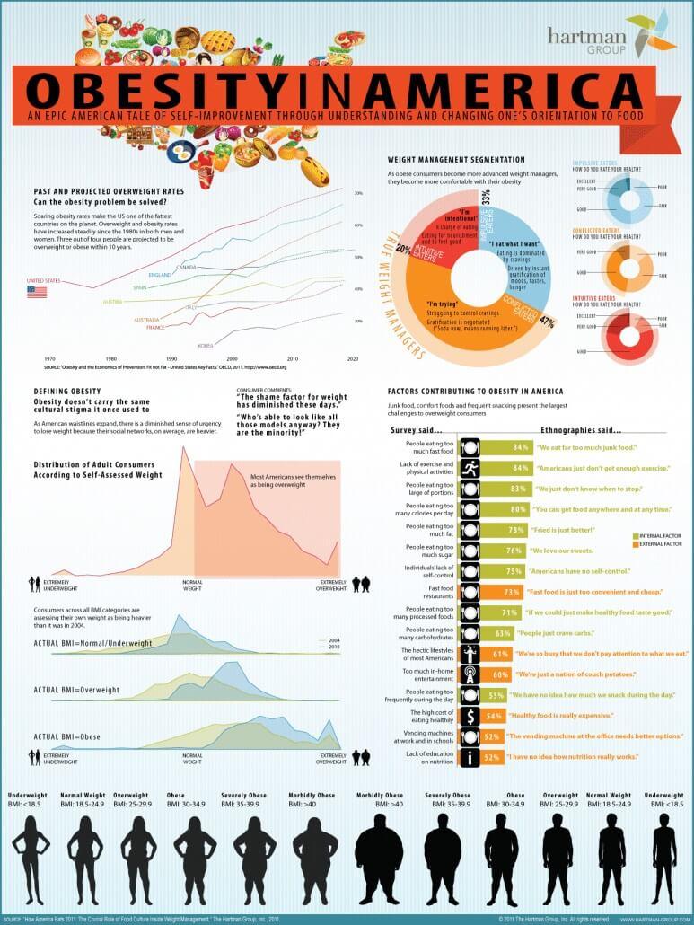 Obesity in America Infographic